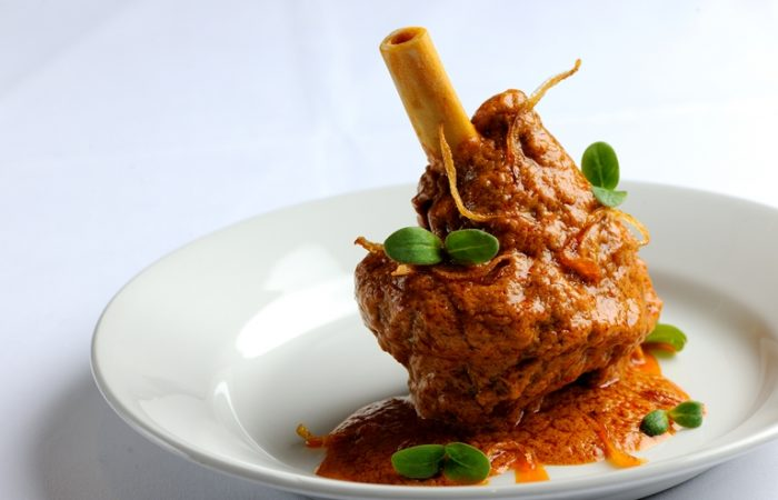 hyderabadi lamb shank